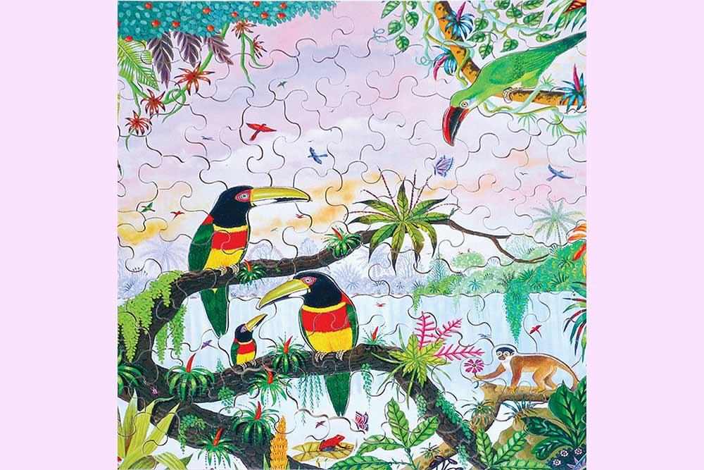 Puzzle Michèle Wilson fait à la main dans du bois de Peuplier