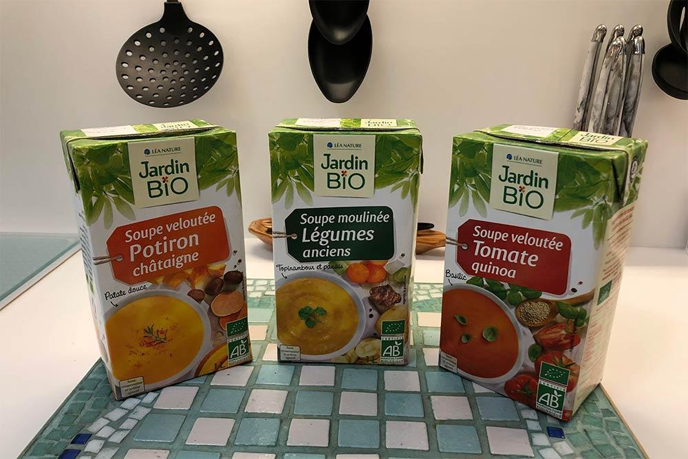 Les soupes Jardin Bio