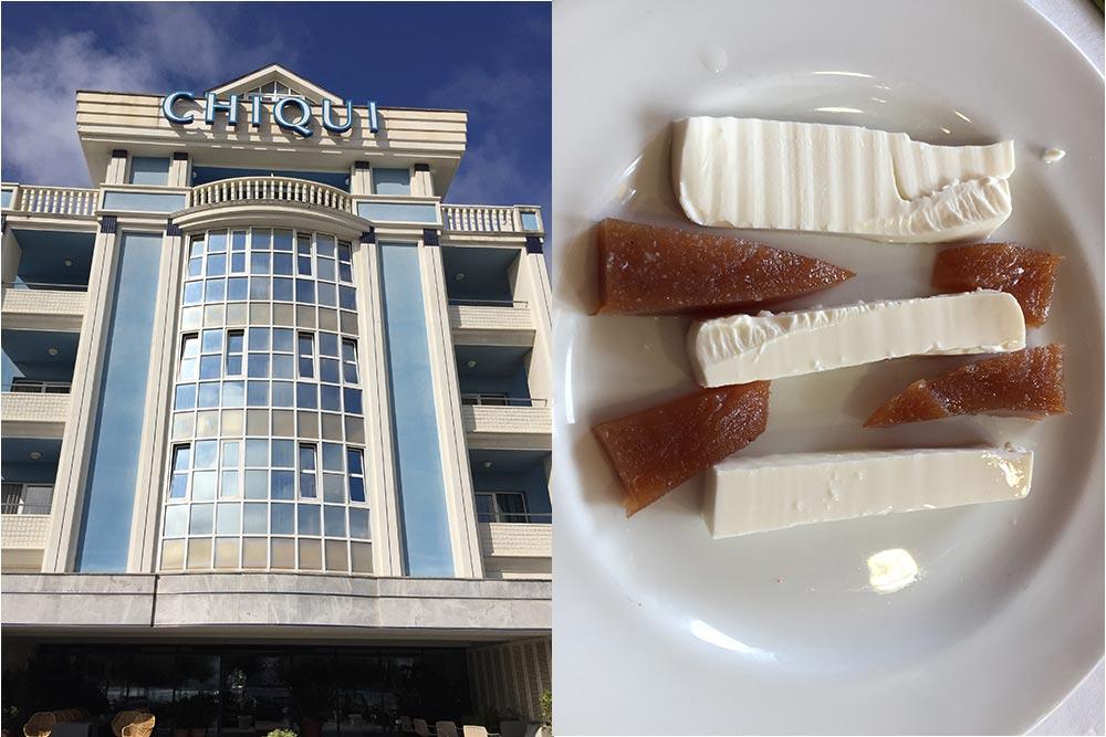 """L'hôtel Chiqui, Santander et Fromage de brebis et """"membrillo"""", restaurant du golf Abra del Pas"""