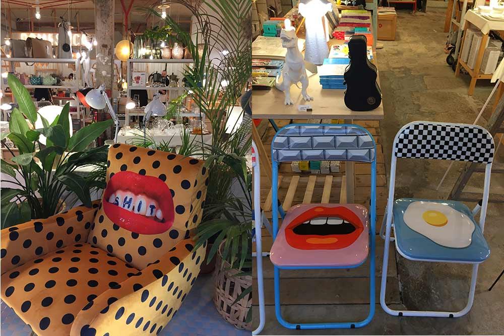 La Cantabrie - Fauteuil, boutique de déco, Santander et Chaises pop, boutique de déco de Santander
