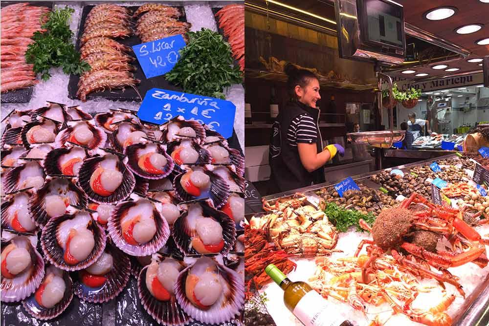 La Cantabrie - Marché et Etal du marché de Santande