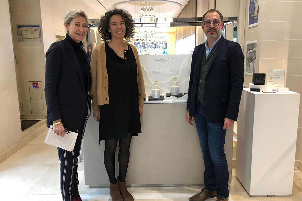 Patrice Bouëxel, co-Fondateur Clæpsidra- Deslphine Thierry et Valérie Ladreyt - Studio Mariani Guély