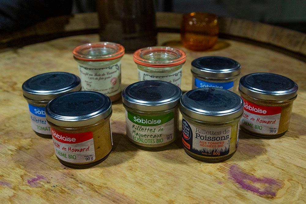 Quelques spécialitésde la conserverie La Sablaise