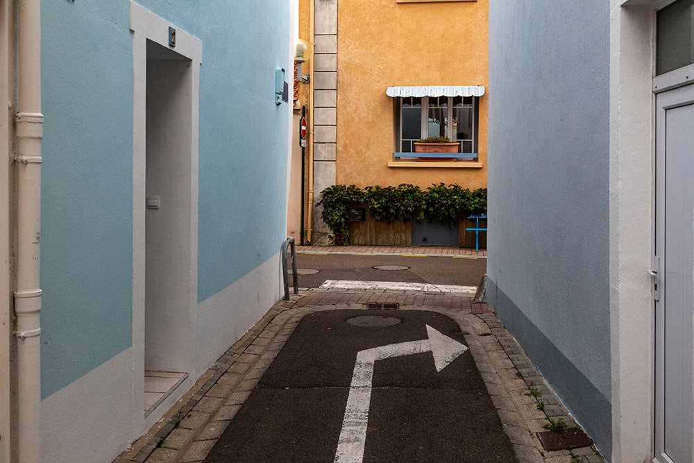 Le quartier de La Chaume compte de nombreuses ruelles.