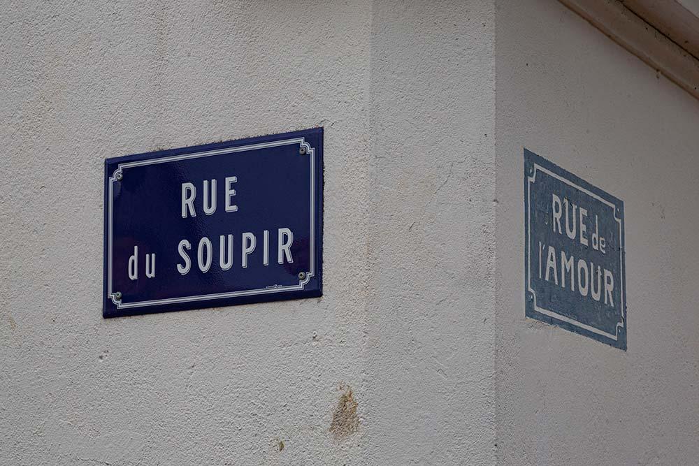 Des noms de rues très significatives.