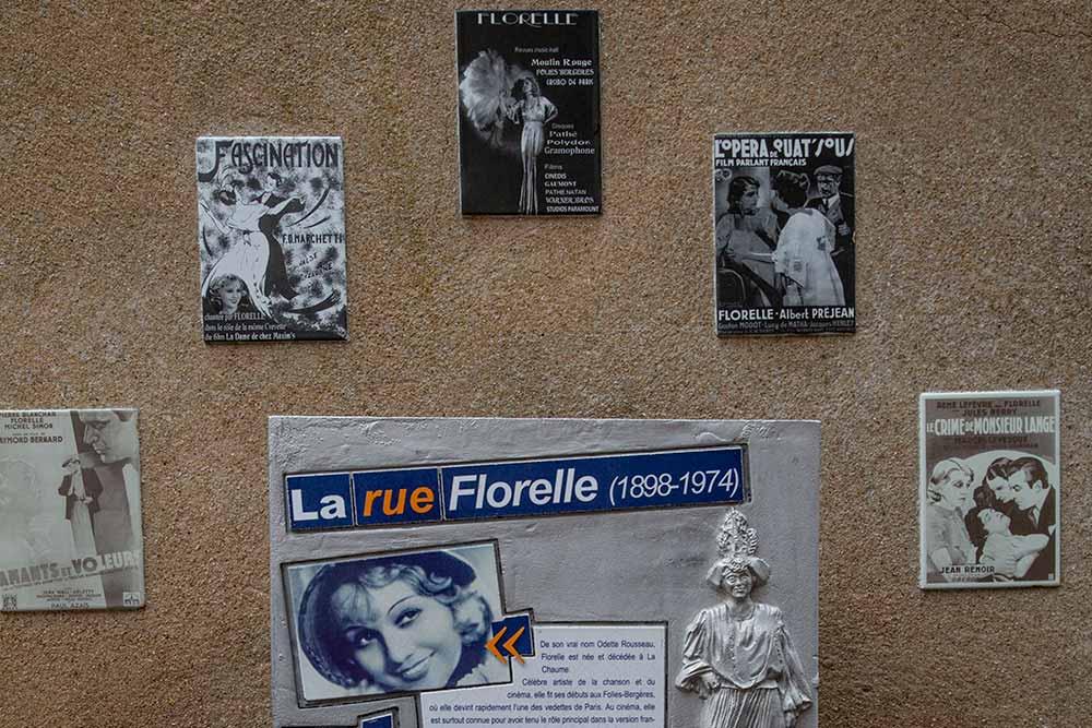 Florelle fut une grande vedette de la chanson et du cinéma habitait La Chaume.