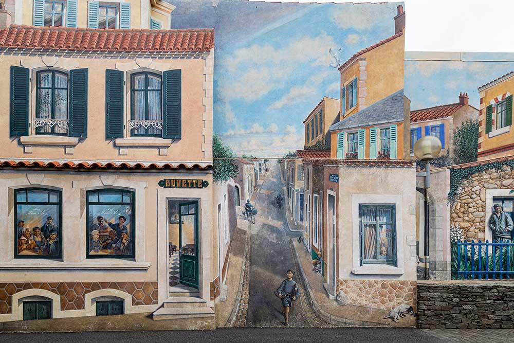 La très jolie fresque d'Alfred Landreau.