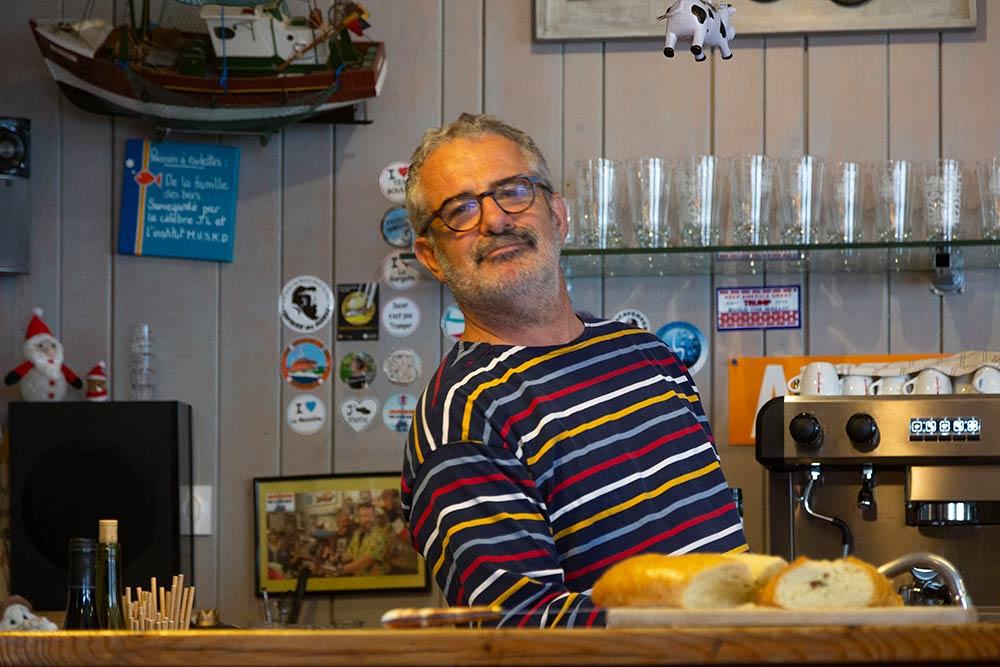 Jean-Luc Sabourin, le patron du bistrot Le poisson à roulette.