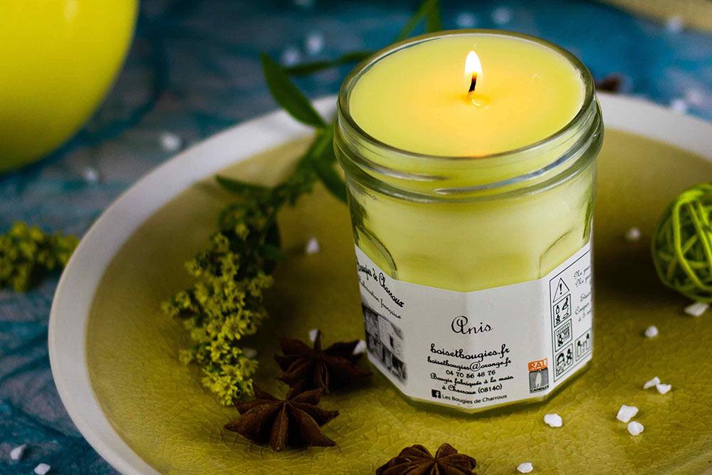 Bougies de Charroux à l'Anis