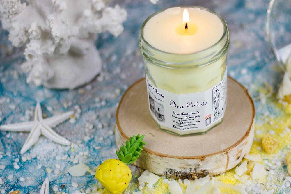 Bougie Pina Colada : Bougies de Charroux