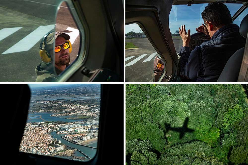 Les - Sables d'Olonne : Concentration au départ de notre vol au-dessus des Sables d'Olonne.