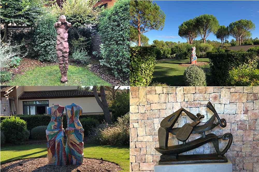 Esterel - Côte d'Azur : les oeuvres d'art de Terre Blanche