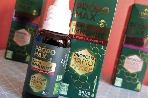 Própomax comprend six produits bio d'apithérapie.