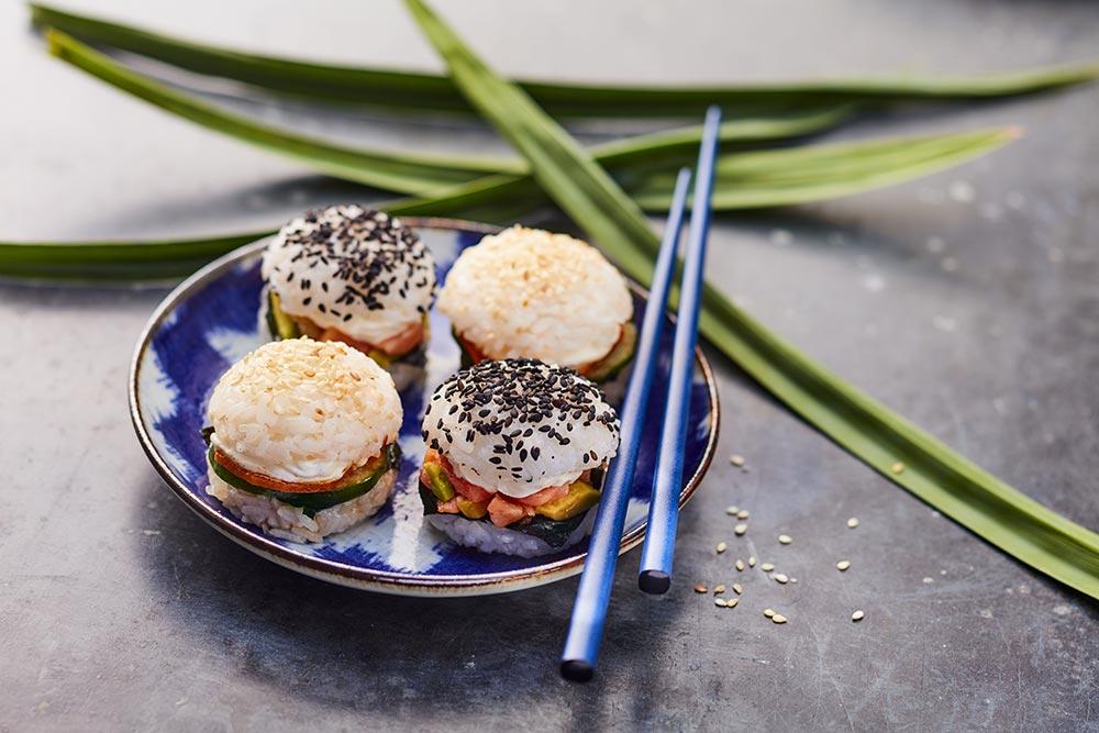 4 sushi burgers