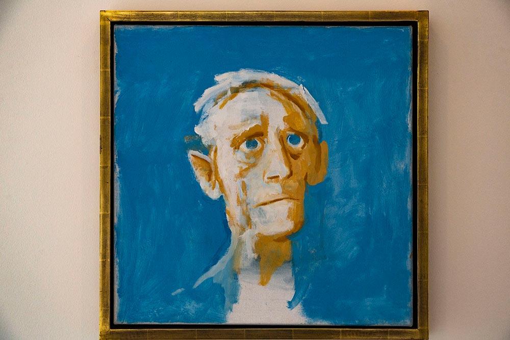 """""""Self Portrait of 70"""", de Victor Willing, le dernier auto-portrait de l'artiste peu de temps avant sa mort à l'age de 60 ans."""