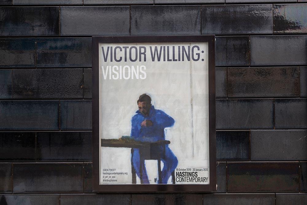 L'affiche de l'exposition Victor Willing