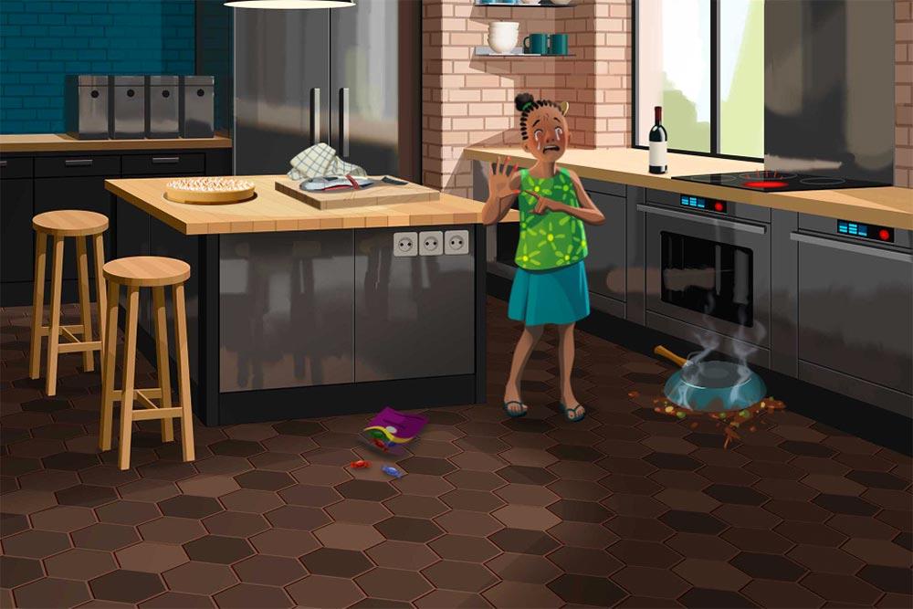 Les accidents domestiques - en cuisine