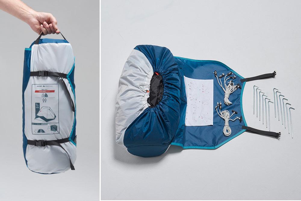 2 secondes EASY - Un sac compact, facile à transporter, d'un poids de 4,7 kg.