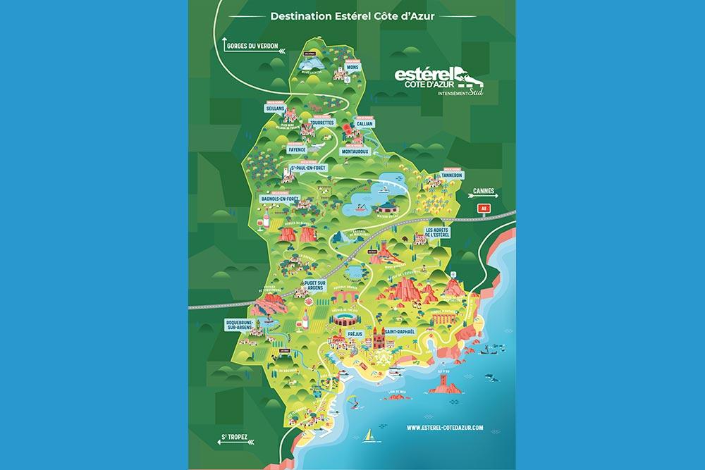 Carte Esterel Côte d'Azur