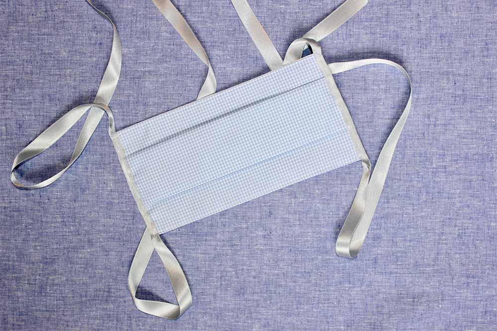 Masques - Masque sur mesure en coton égyptien fabriqué à Parispar Clotilde Ranno.