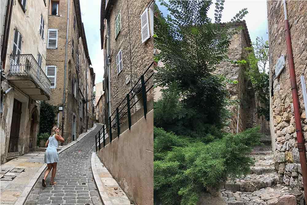 Pays de Fayence - rues qui montent dans le village