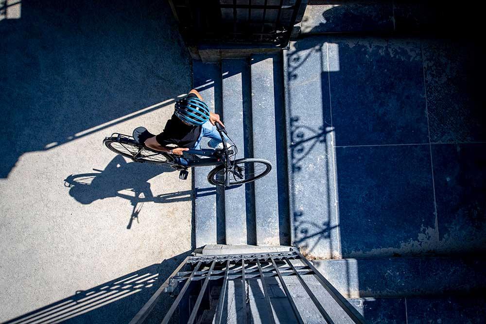 Un vélo fait pour la ville et léger pour affronter toutes les dénivellations