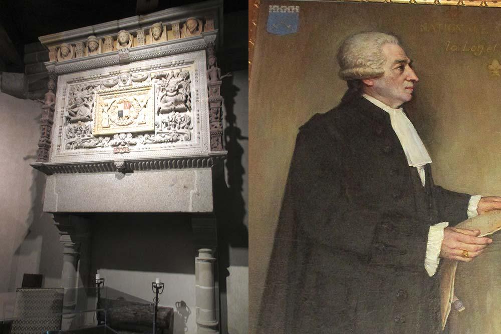 Le musée conserve une cheminée du XVIe s. récupérée de la maison détruite d'un riche marchand. M.Hardy de la Largère, député aux Etats généraux en 1789 fut le premier maire de Vitré.