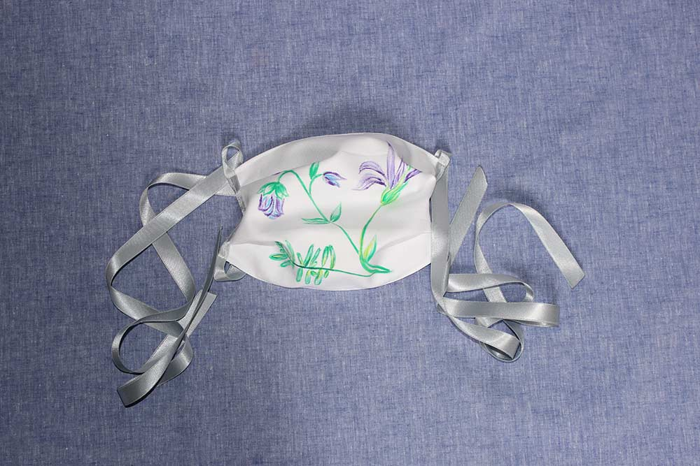 Masque fleurs violettes