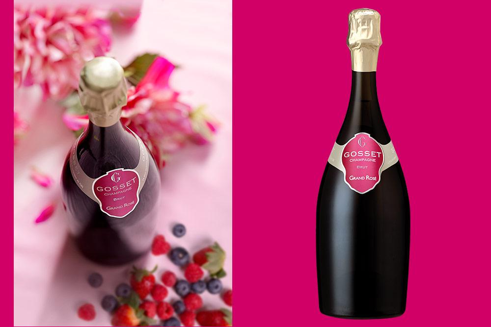 Champagne Gosset - Grand Rosé Brut : La gourmandise du fruit
