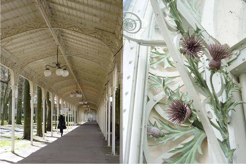 Vichy - Galerie couverte et chardons ornementaux Art Nouveau