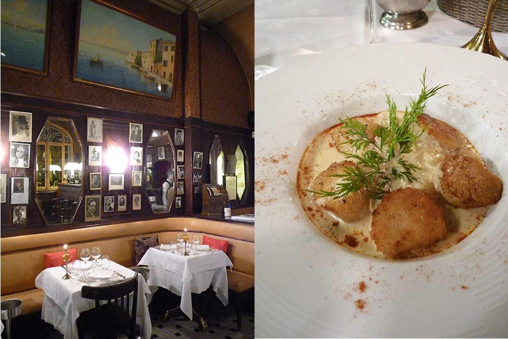 La brasserie du Casino et Noix de Saint-Jacques poêlées, julienne de poireau et beurre blanc citronné