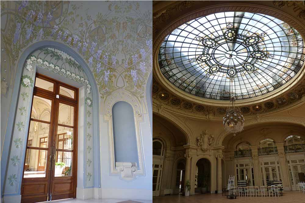 Palais des congrès-opéra: la salle des glycines et l'ancienne salle de bal