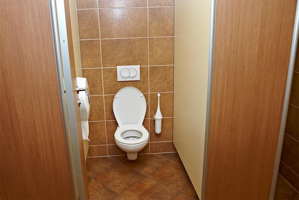 WC inaccessible car trop étroit