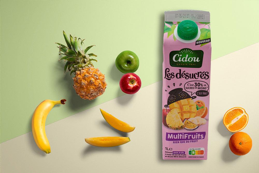 Cidou : des jus de fruits bio avec peu de sucre et beaucoup de fruits
