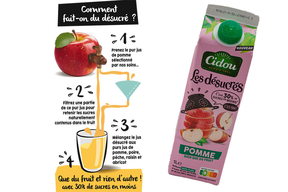 Les désucrés - des jus de fruits bio avec peu de sucre et beaucoup de fruits