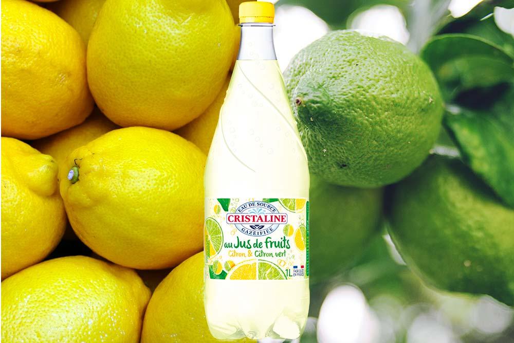 Cristaline citron jaune et citron vert