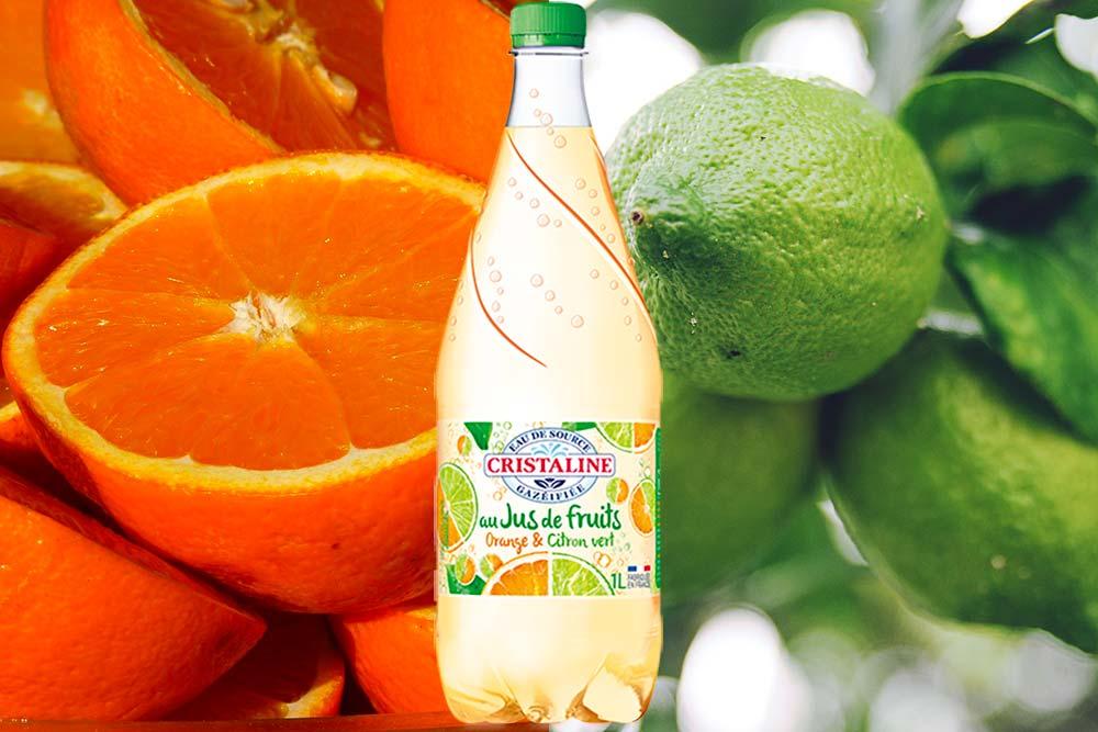 Cristaline orange et citron vert