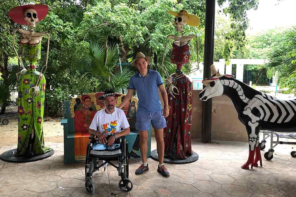 Personne à mobilité réduite - vacances au Mexique