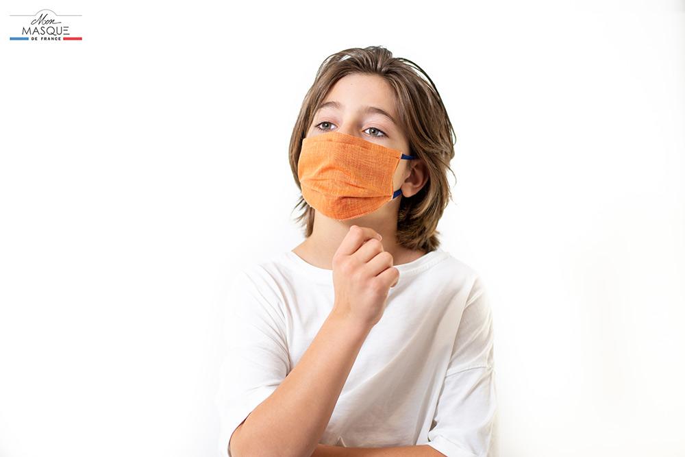 Masque enfant Orange classique