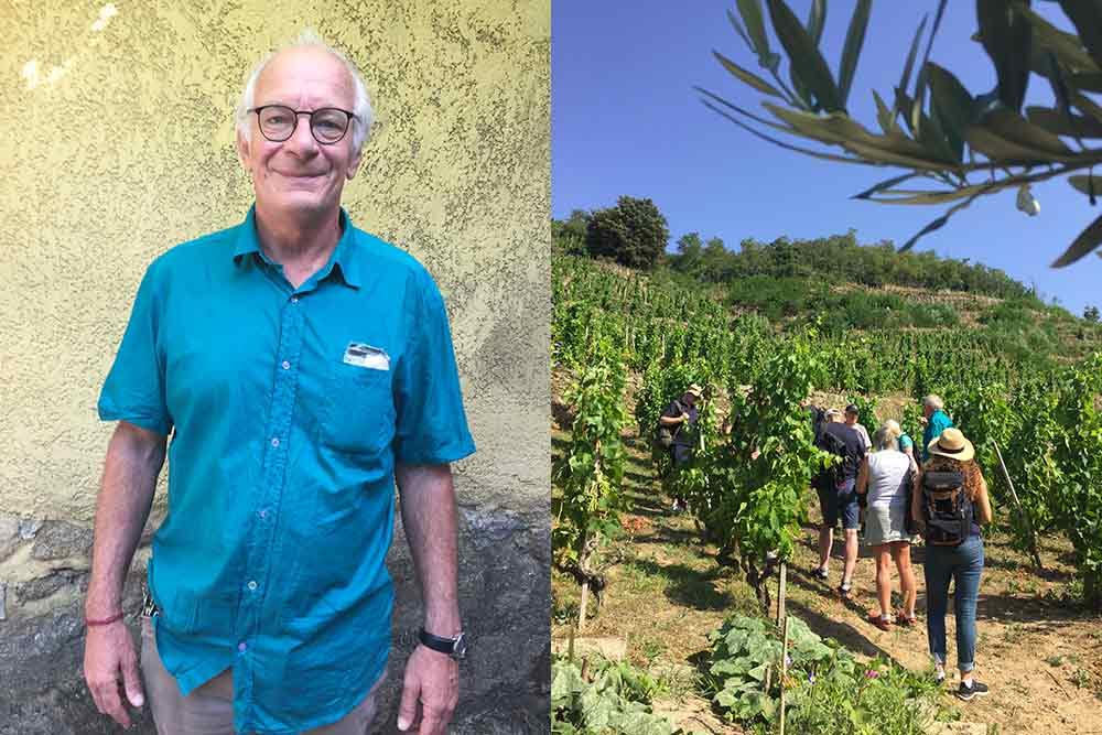 Martin Daubrée et visite de la vigne