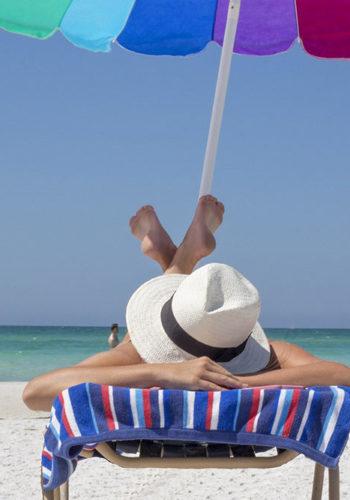 Pause relaxante à la plage