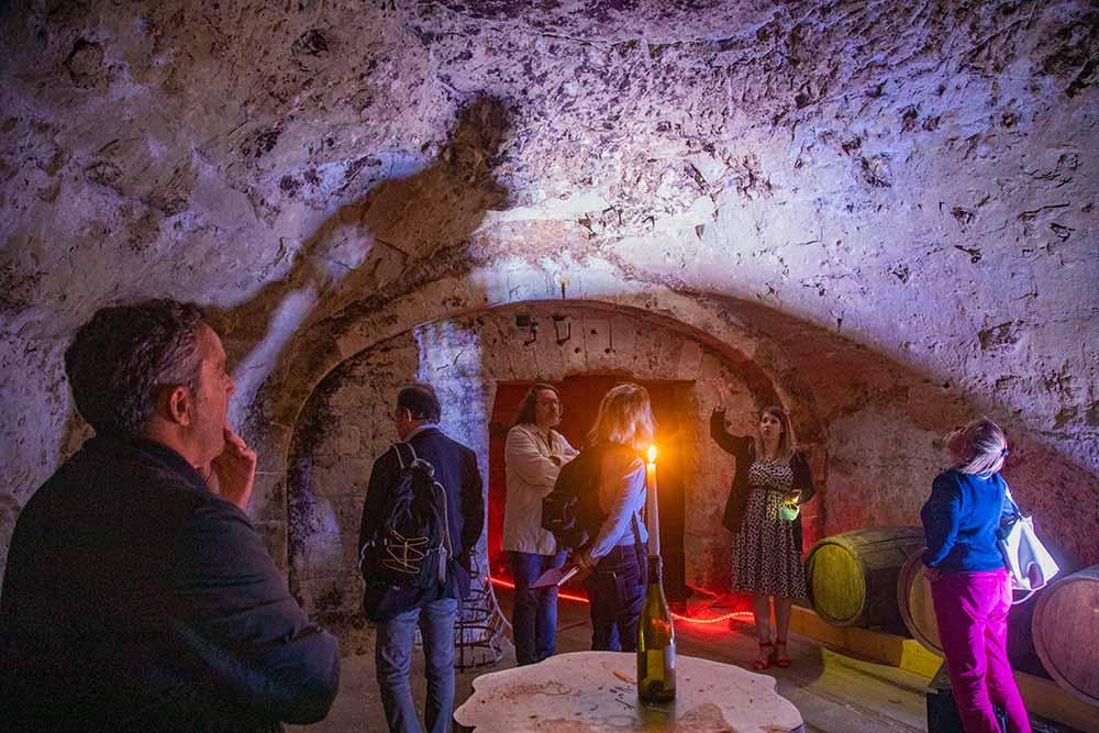 Visite des caves troglodytes.