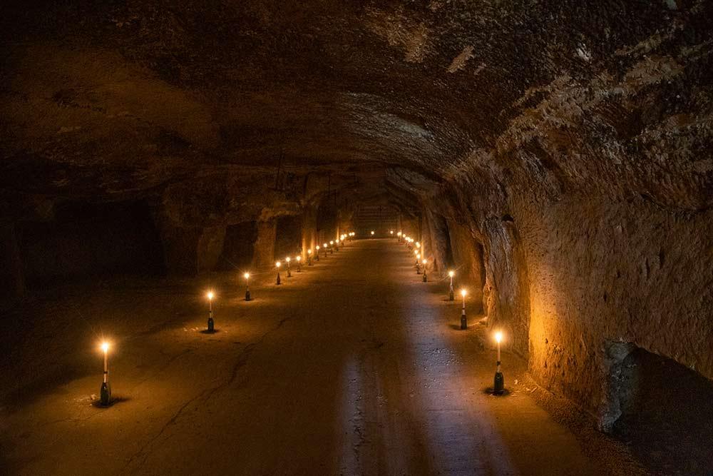 Un tunnel entre le restaurant et VivoValley.