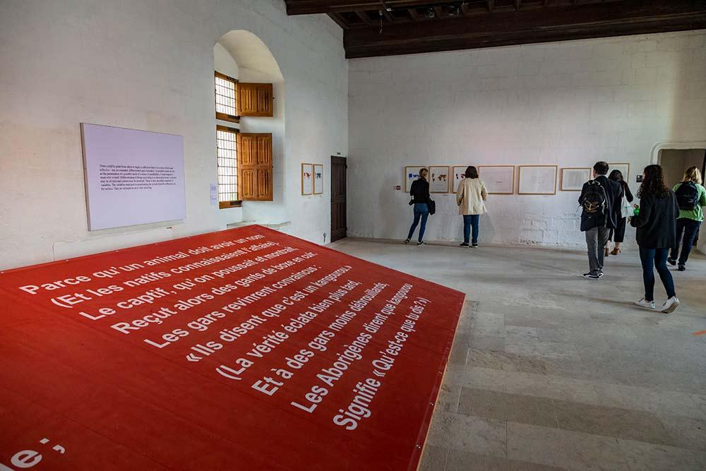 L'exposition Art & Langage est une réflexion sur les formes diverses que peut prendre l'œuvre d'art : affiche, disque, vidéo, texte imprimé, drapeau,tableau.