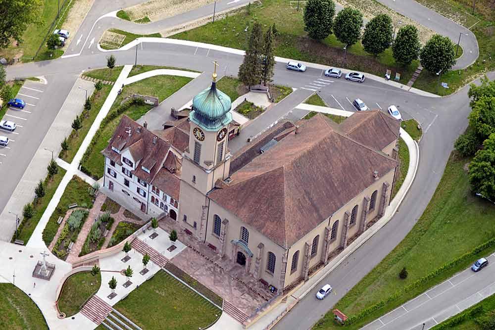Thierenbach - Guebwiller vue de la Basilique