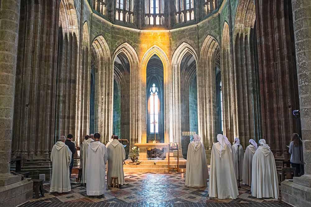 Mont-Saint-Michel : Fraternités Monastiques
