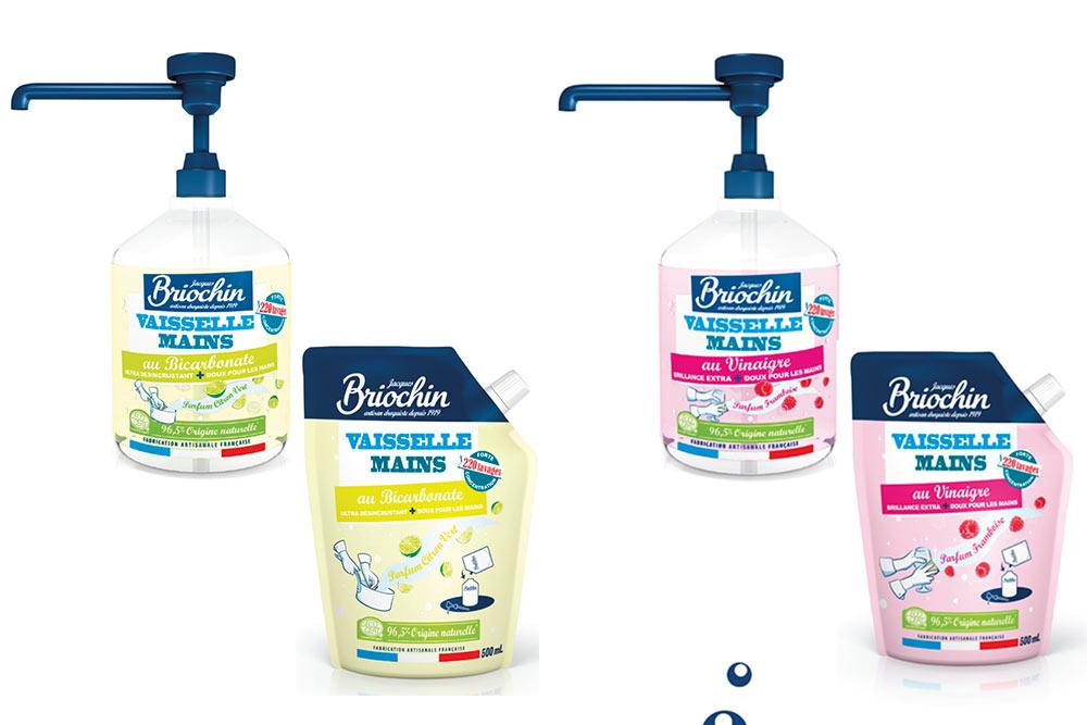Les nouveaux liquides vaisselle mains Briochin