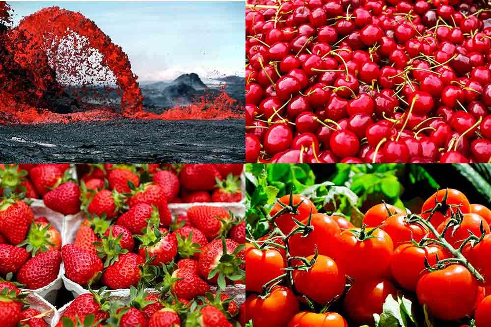 La couleur rouge met l'eau à la bouche et la passion dans les coeurs.