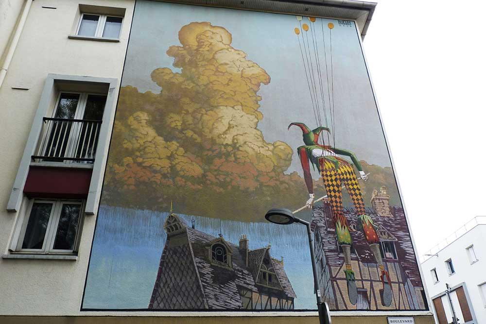 Rouen - «L'Envol» par Nubian, 15 bd de l'Europe