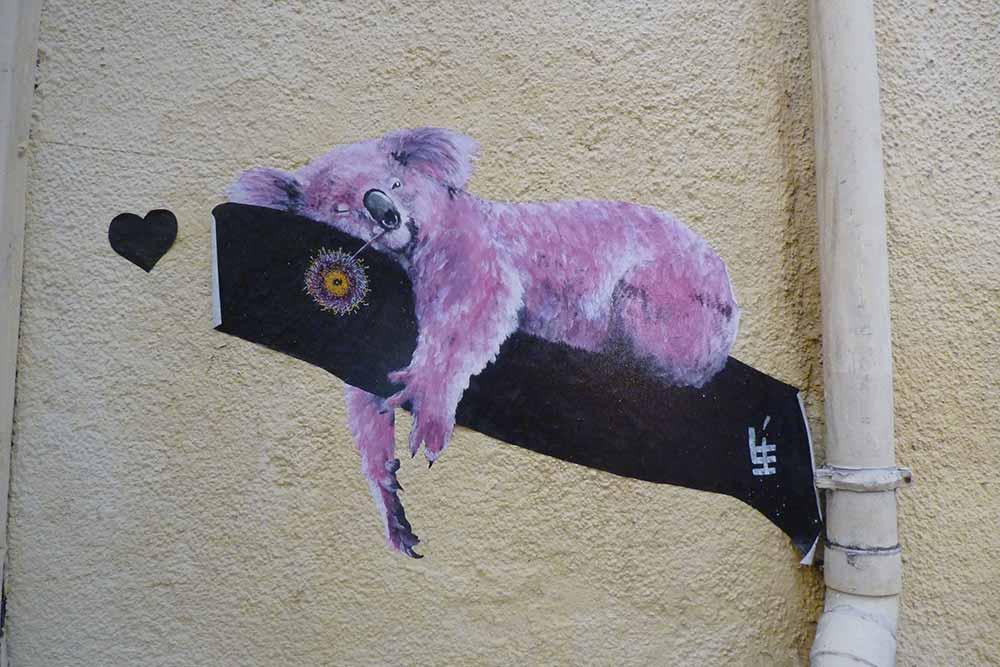 Rouen - Petit panda réalisé pour «Rouen impressionnée» lors d'une édition précédente